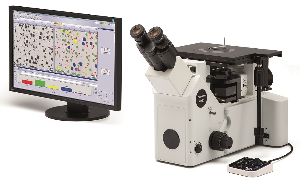 GX53 inverted microscope with Stream