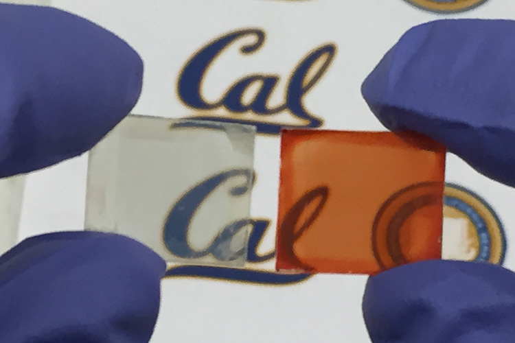 Berkeley chemists created a new type of photovoltaic out of cesium-doped perovskite that is transparent at room temperature but turns dark at high temperatures, setting the stage for smart windows that also generate electricity.