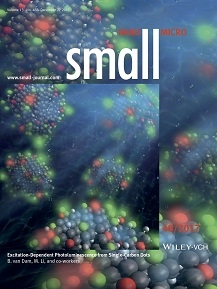 Carbon dots emitting different colours of light, as featured on the inside cover page of Small.