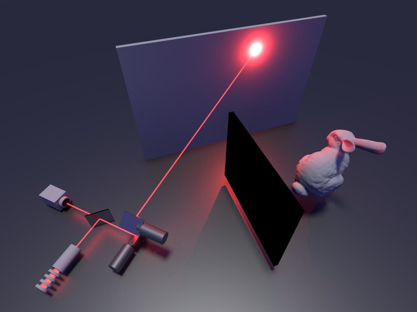 Illustration of the non-line-of-sight imaging system