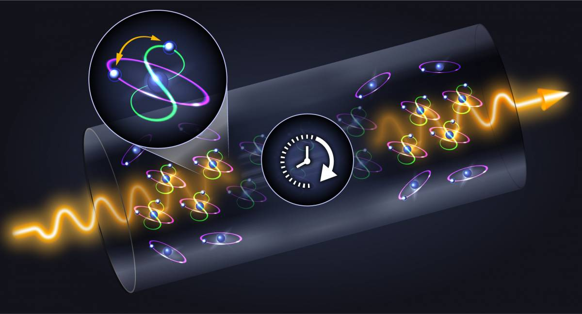 Storing light on electronic orbitals