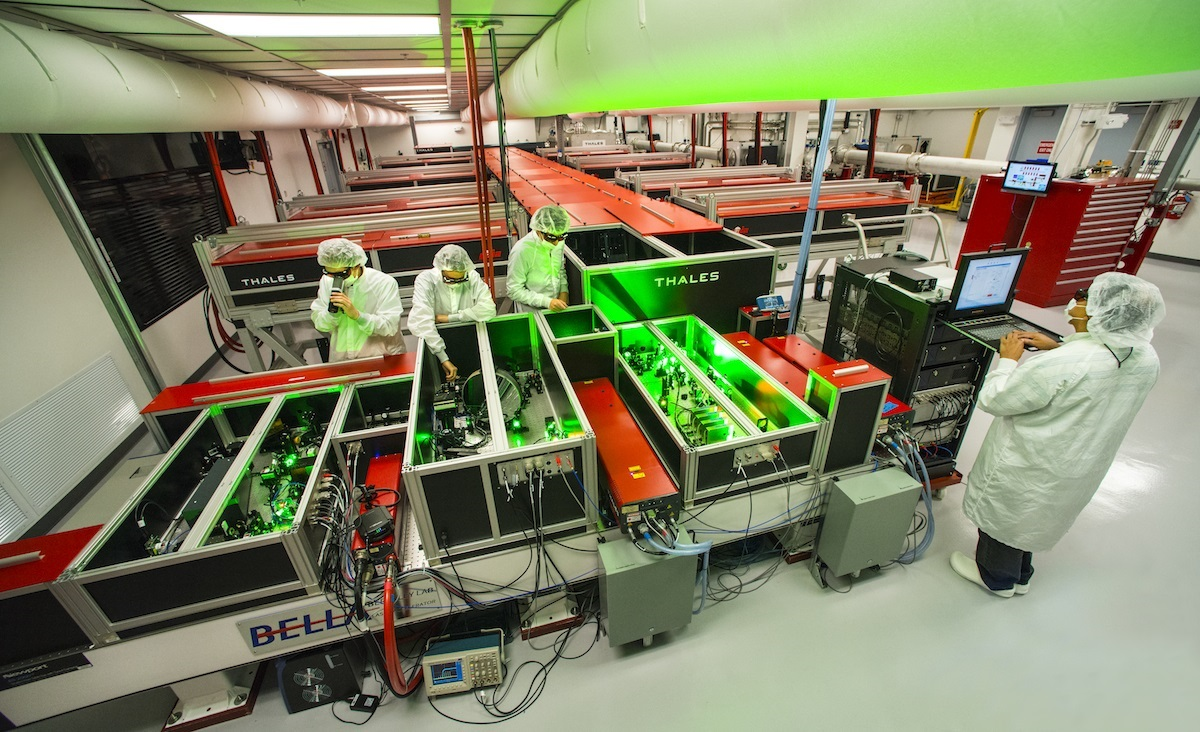 A view of BELLA, the Berkeley Lab Laser Accelerator
