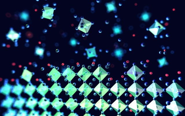 Atomic scale view of perovskite crystal formation