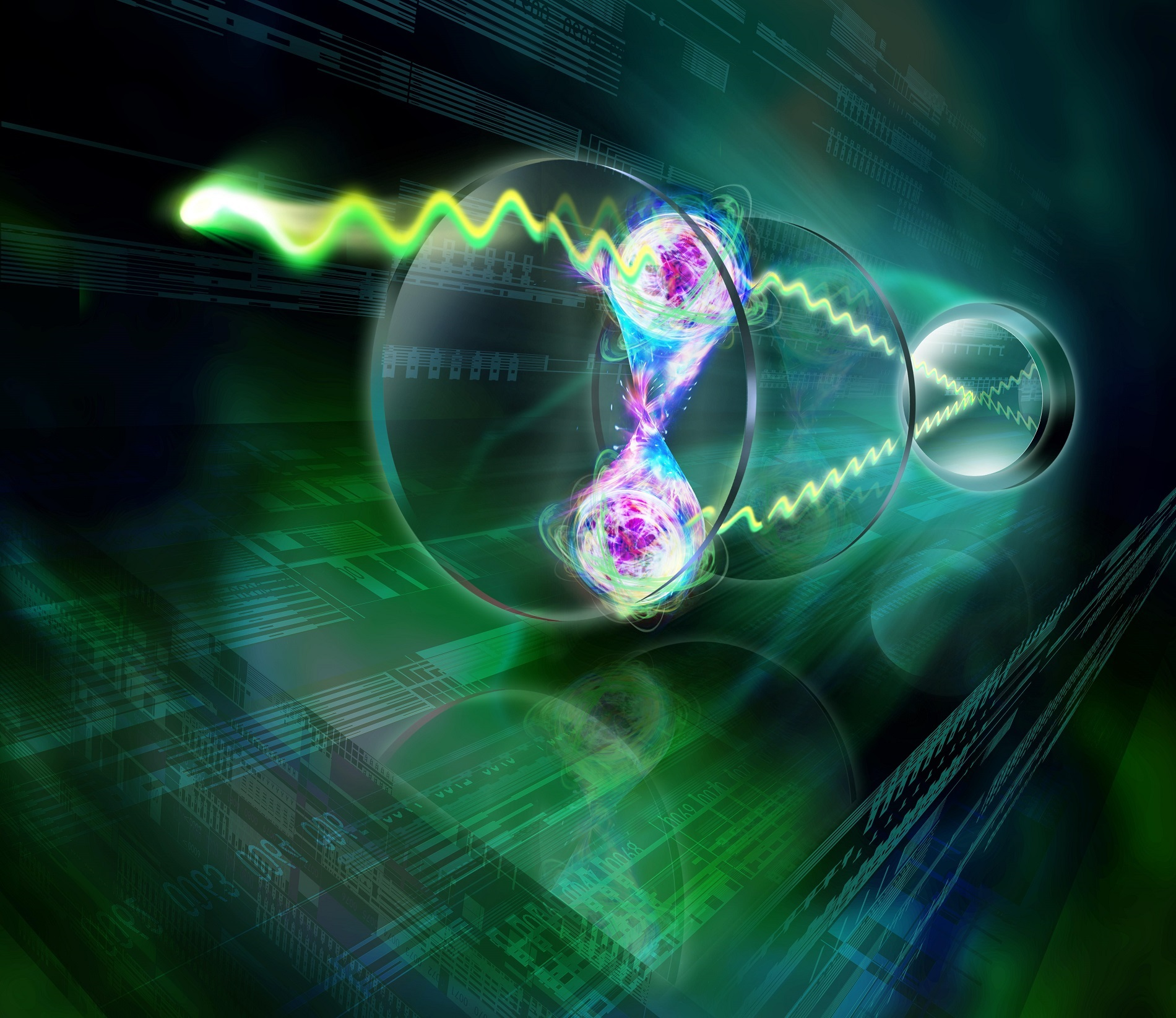 Physicists compared the photon interference produced by entangled and non-entangled barium atoms